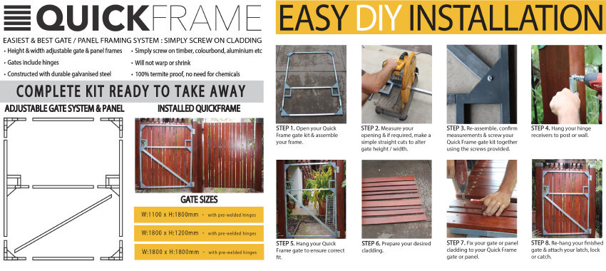 QuickFrame the easiest gate/panel framing system | 5 Star Timbers